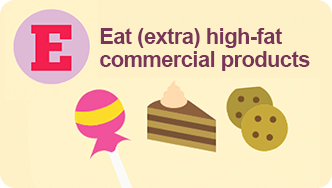 eat high-fat products