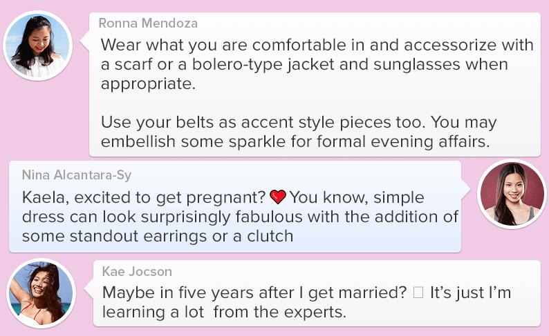Pregnant moms sharing fashion together_10
