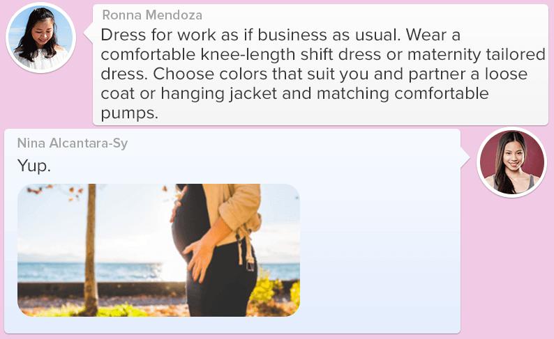 Pregnant moms sharing fashion together_5